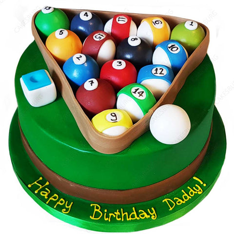 Pool / Billiards Cake