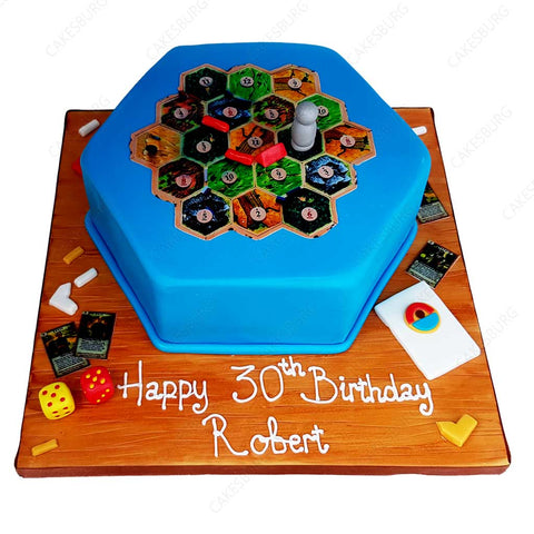 Catan Board Game Cake