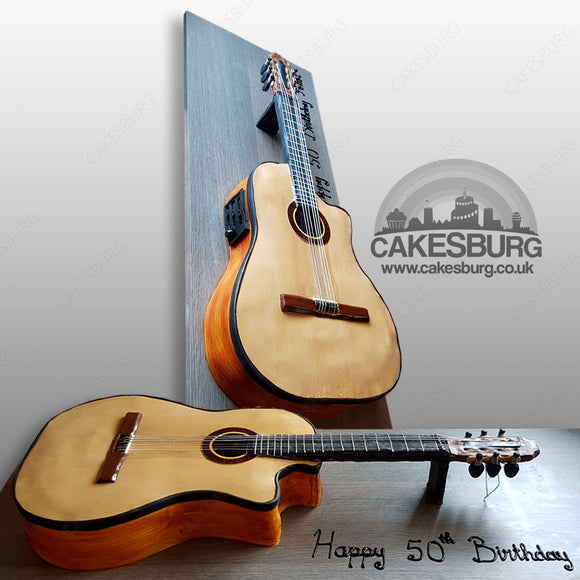 Electro Classical Acoustic Guitar Cake
