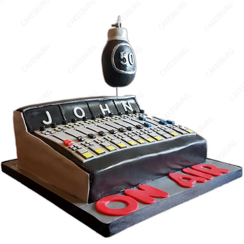 On Air DJ Mixer Cake