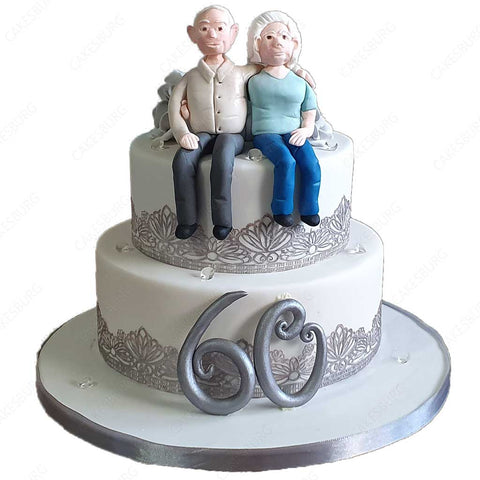 Endless Love Anniversary Cake