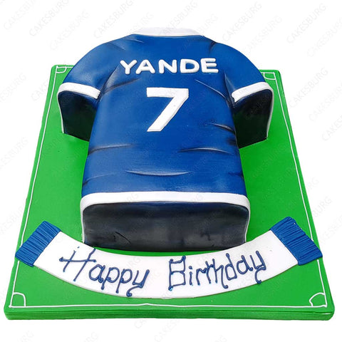 Football Uniform Cake #3