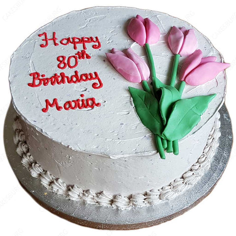 Buttercream Tulip Message Cake
