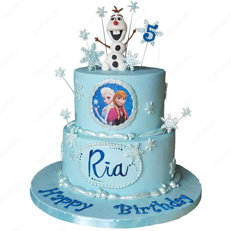 Frozen Elsa and Olaf Cake