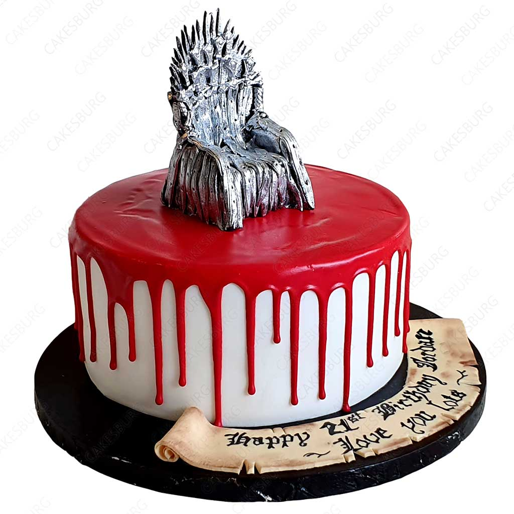Super Game Of Thrones Cake 1 Cakesburg Online Premium Cake Shop Funny Birthday Cards Online Overcheapnameinfo