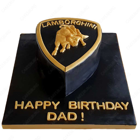 Lamborghini Logo Cake (Detailed)