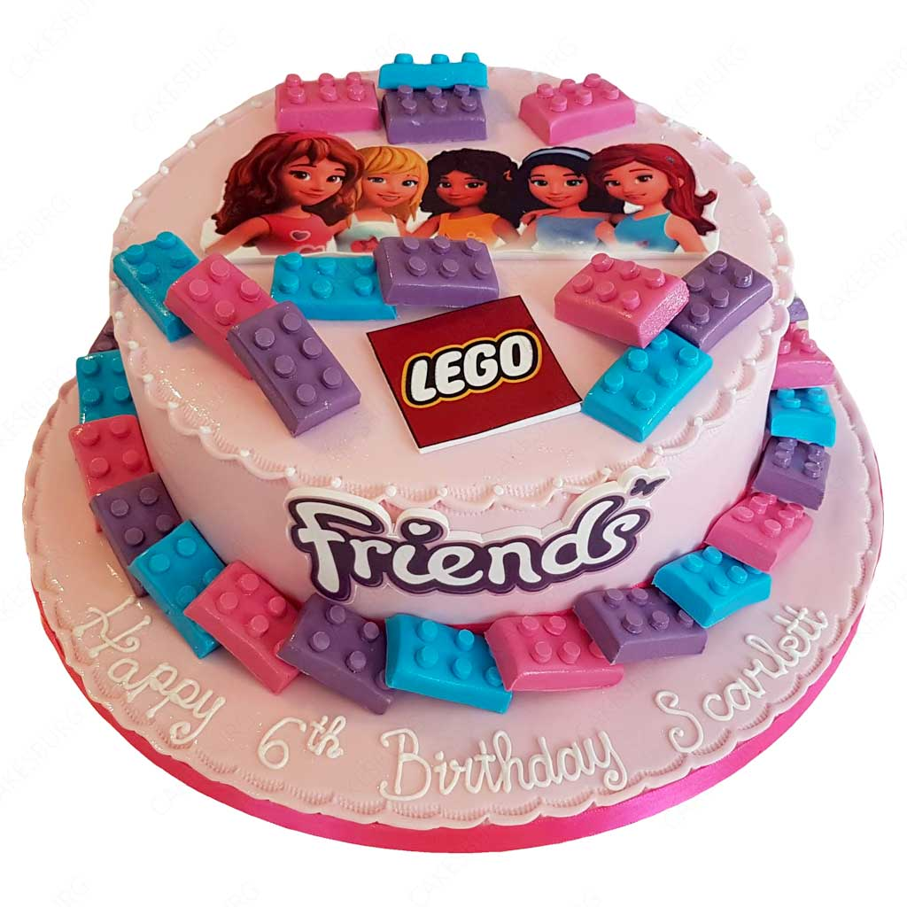 Tremendous Lego Friends Cake Cakesburg Online Premium Cake Shop Personalised Birthday Cards Paralily Jamesorg