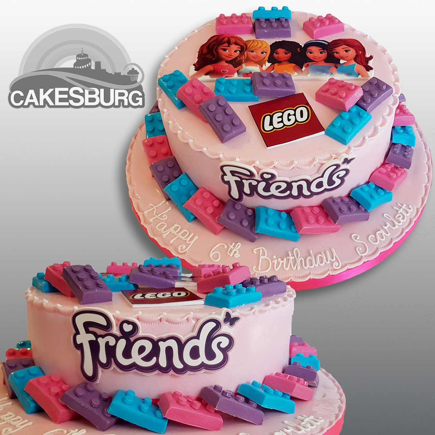 Astounding Lego Friends Cake Cakesburg Online Premium Cake Shop Personalised Birthday Cards Paralily Jamesorg