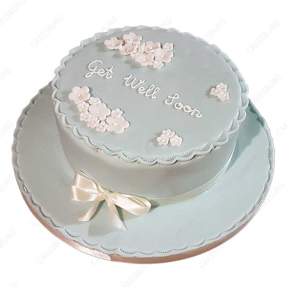Plain Message Cake - Round