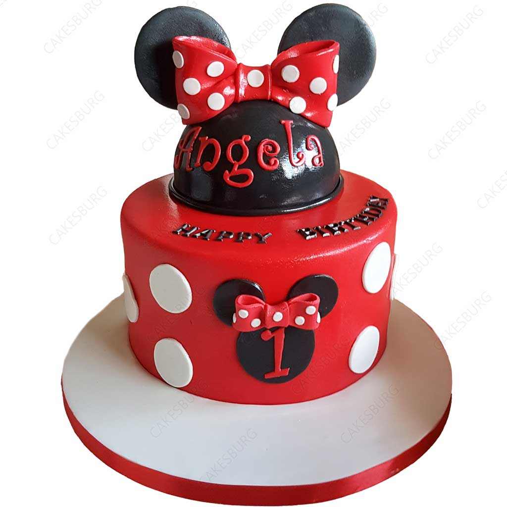 Prime Minnie Mouse Cake 2 Cakesburg Online Premium Cake Shop Funny Birthday Cards Online Overcheapnameinfo