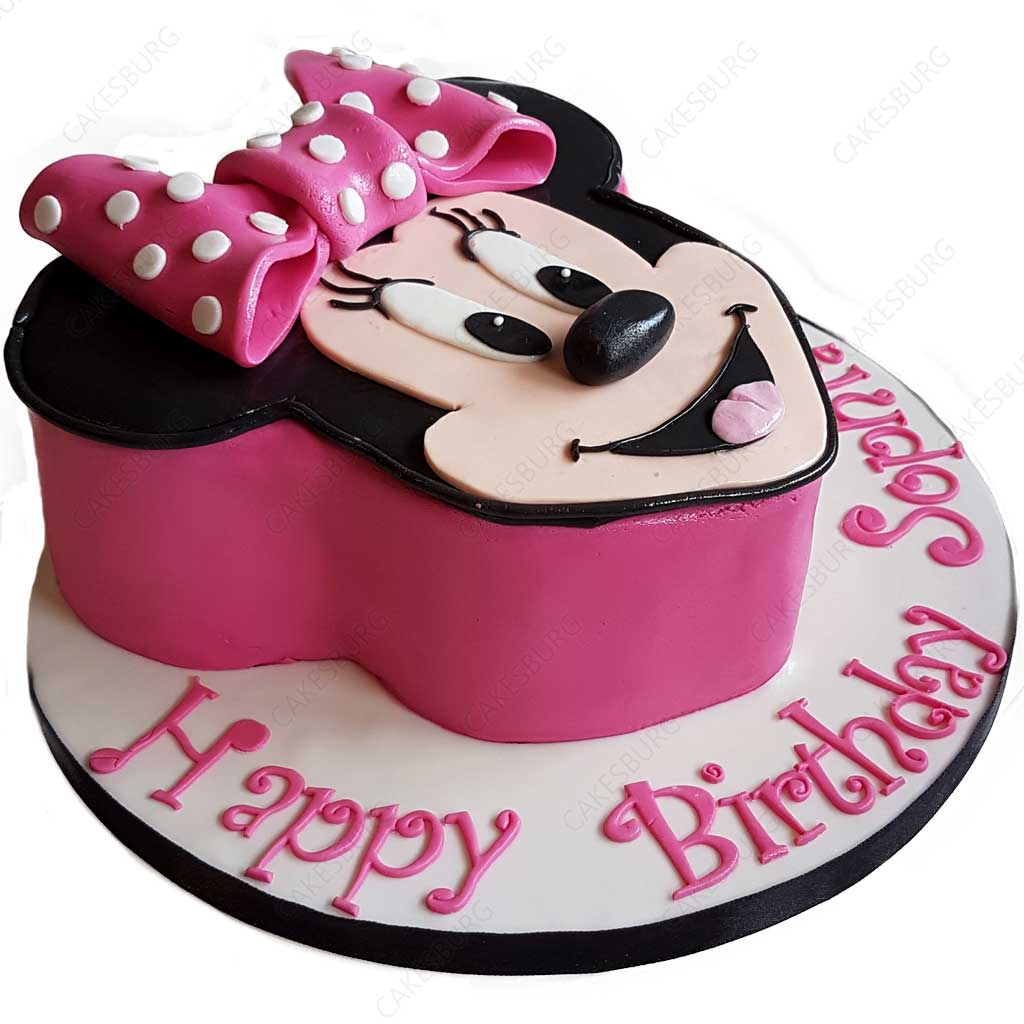 Outstanding Minnie Mouse Cake 3 Cakesburg Online Premium Cake Shop Funny Birthday Cards Online Overcheapnameinfo
