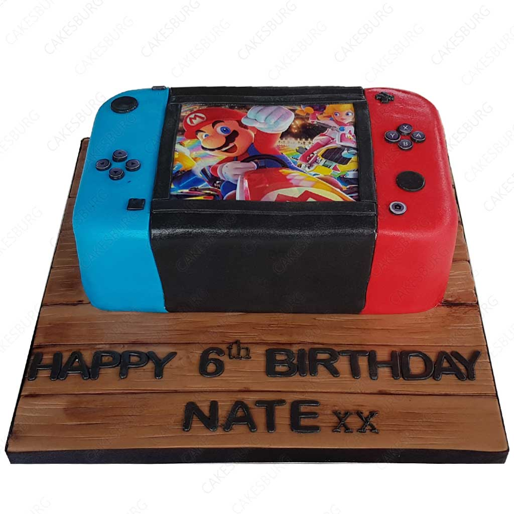 Miraculous Nintendo Switch Cake Cakesburg Online Premium Cake Shop Funny Birthday Cards Online Alyptdamsfinfo