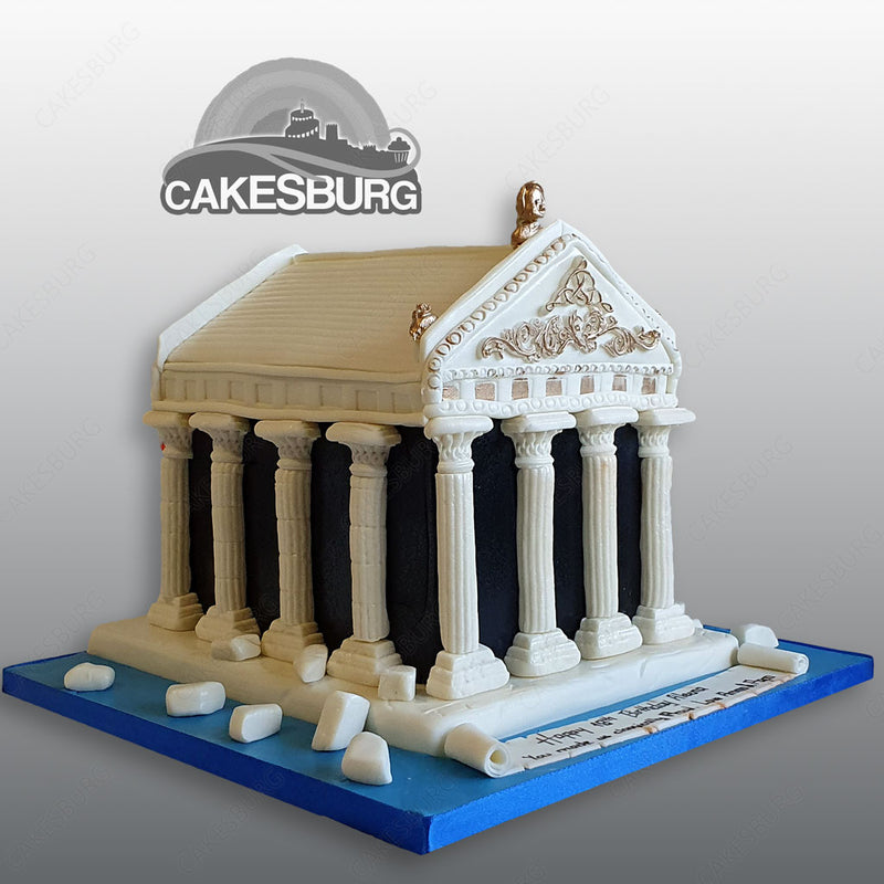 Parthenon Architecture Cake