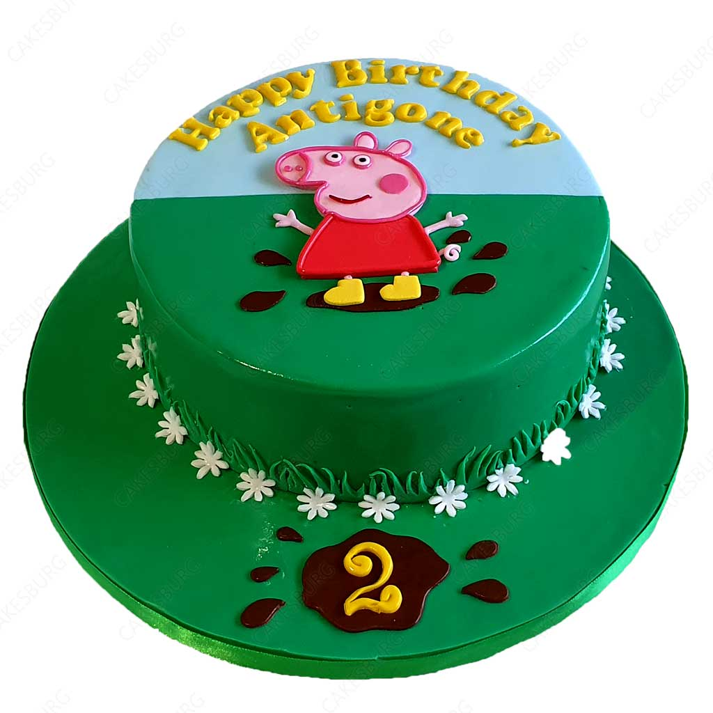 Cool Peppa Pig Cake 2 Cakesburg Online Premium Cake Shop Funny Birthday Cards Online Overcheapnameinfo