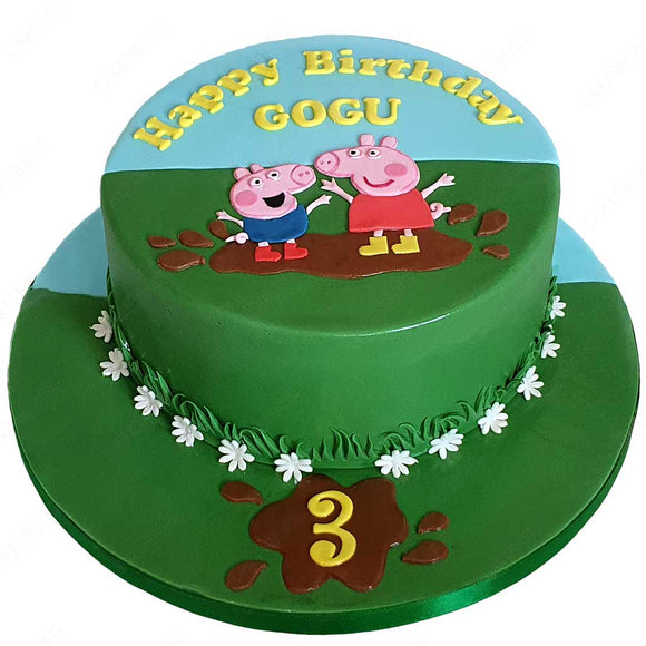 Peppa Pig And George Cake