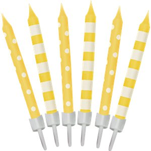 Plain Birthday Candles