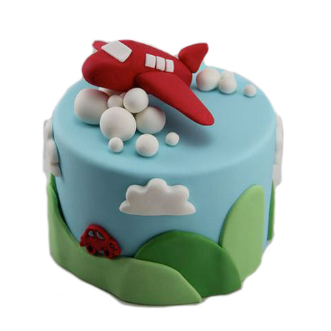 Plane On The Cloud Cake