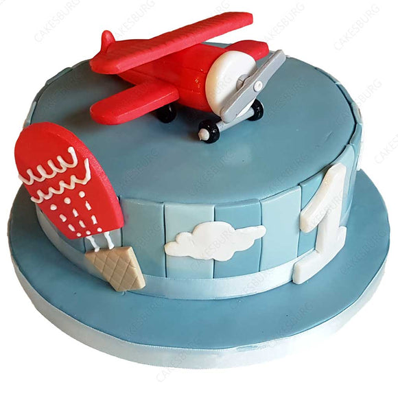 Plane On The Cloud Cake #2
