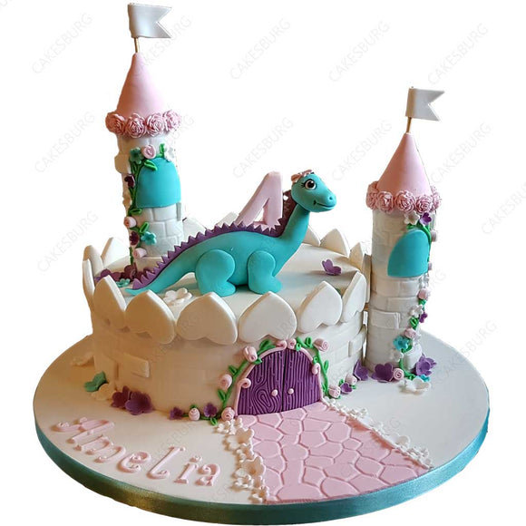 Princess in Castle Cake
