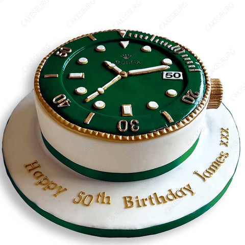 Luxury Rolex Cake - Green