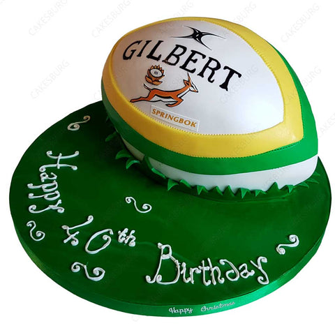 Rugby Ball Cake #3