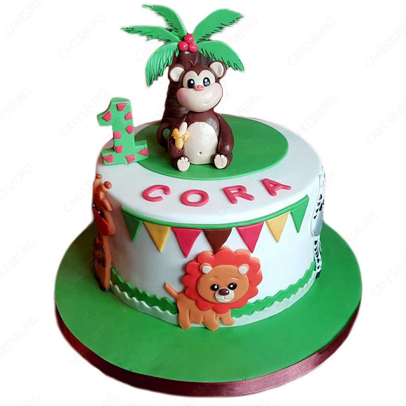Safari Animals Cake #2