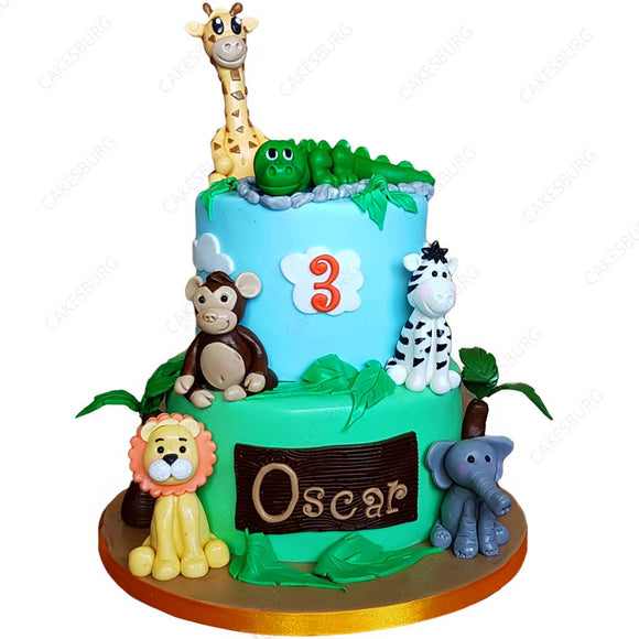 Safari Animals Cake #4