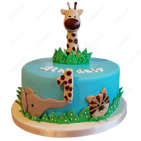 Safari Animals Cake #3