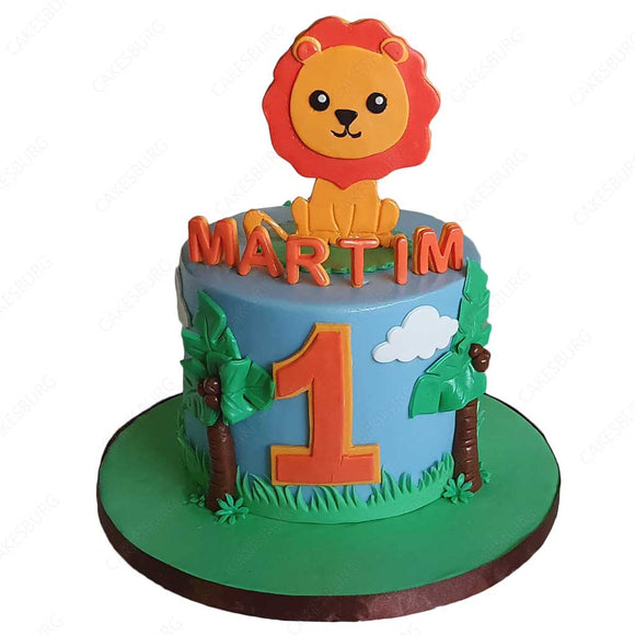 Baby Lion Safari Cake #1