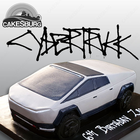 Tesla Cybertruck Car Cake