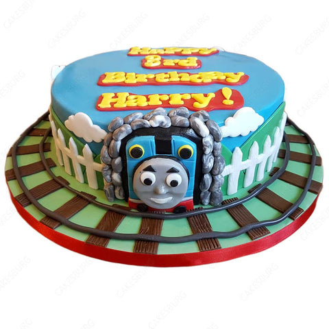 Thomas the Tank Engine Train Cake #1