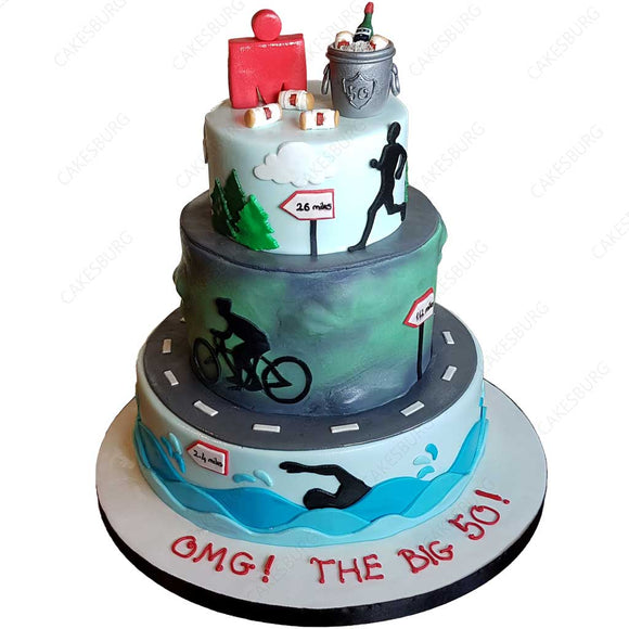Triathlon Ironman Cake #1
