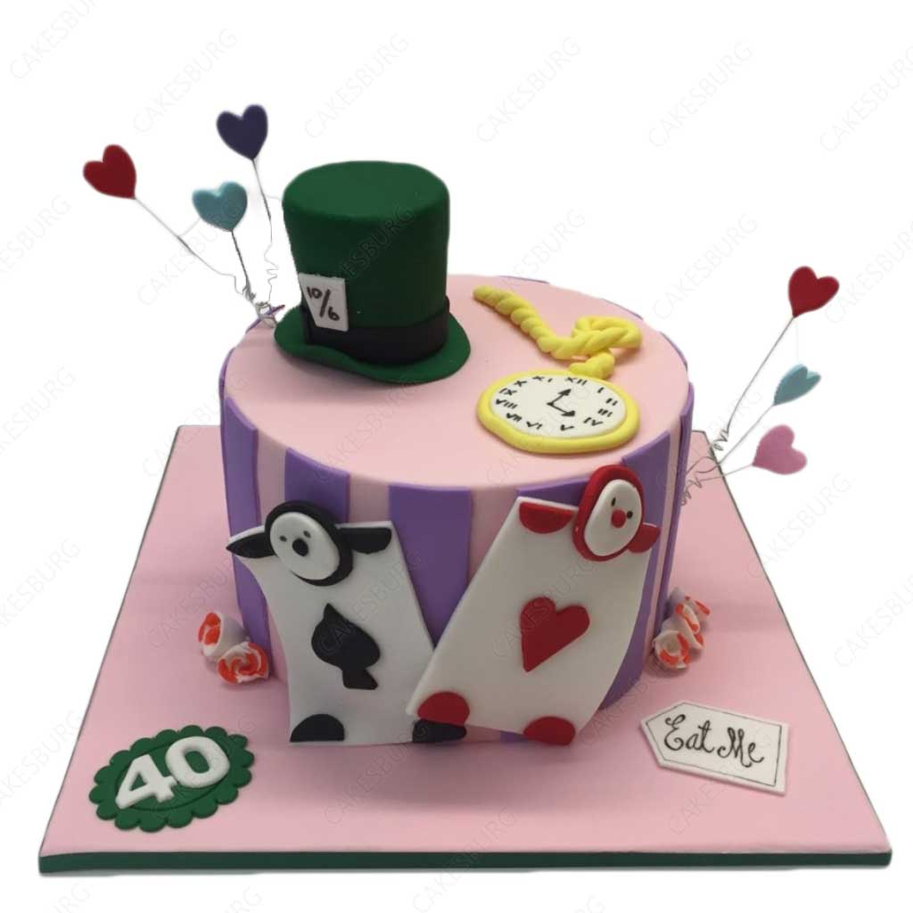 Phenomenal Alice In Wonderland Cake Cakesburg Online Premium Cake Shop Personalised Birthday Cards Cominlily Jamesorg