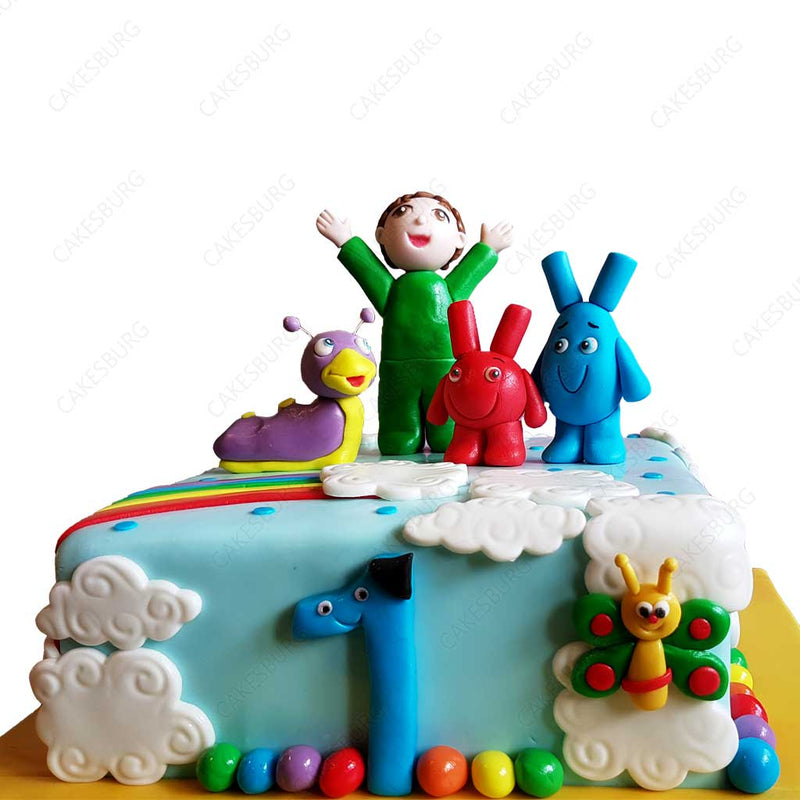 Baby TV Characters Cake