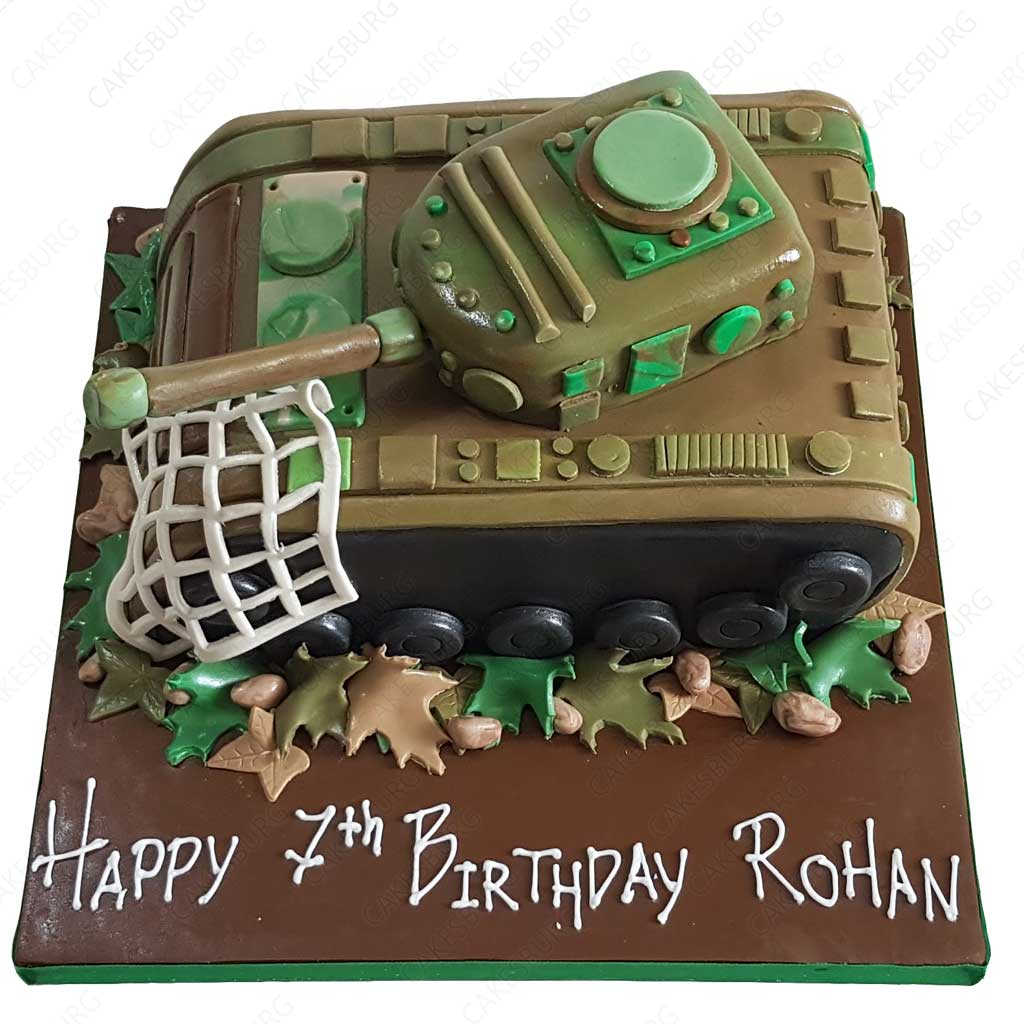 Cool Battle Tank Cake Cakesburg Online Premium Cake Shop Birthday Cards Printable Riciscafe Filternl