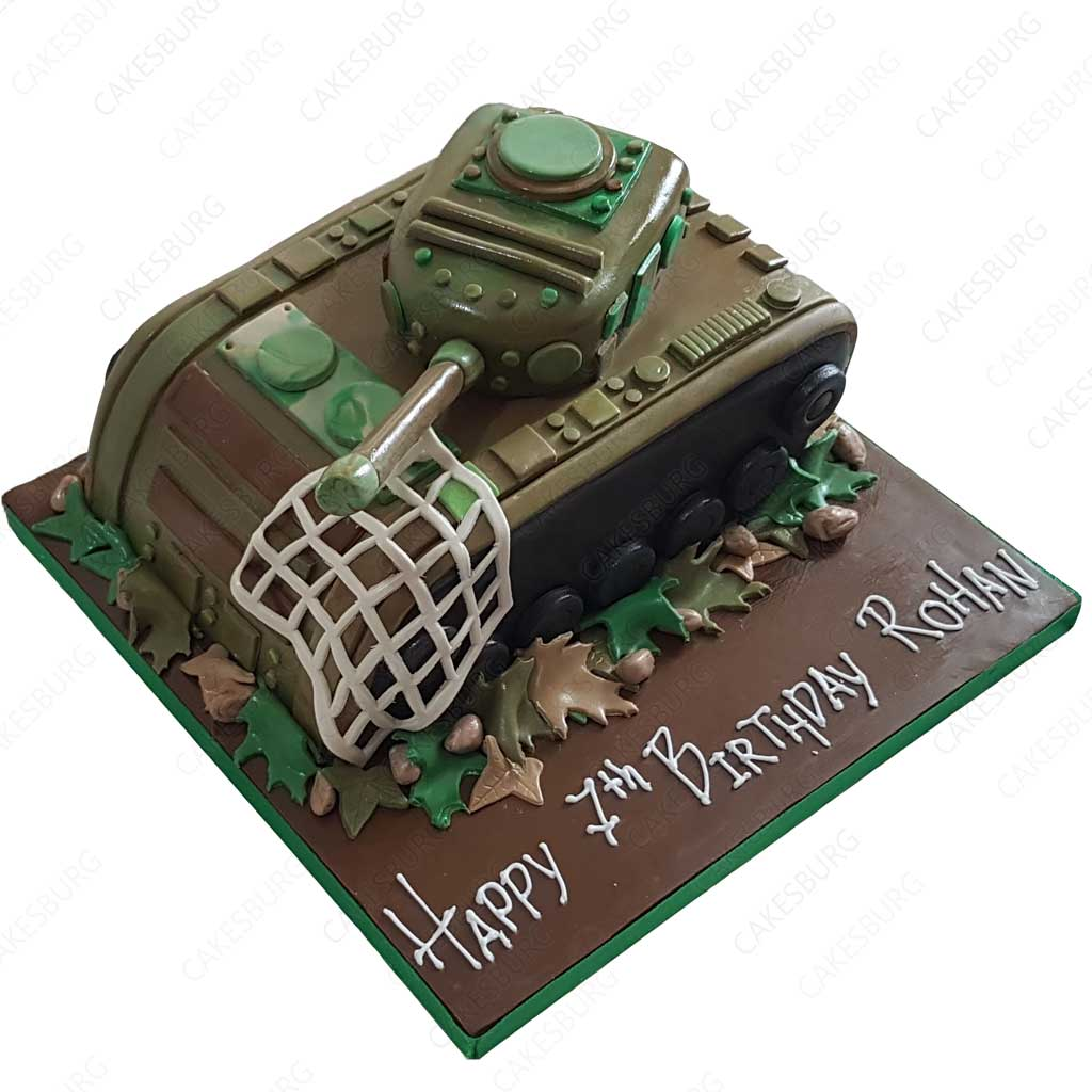 Groovy Battle Tank Cake Cakesburg Online Premium Cake Shop Birthday Cards Printable Riciscafe Filternl