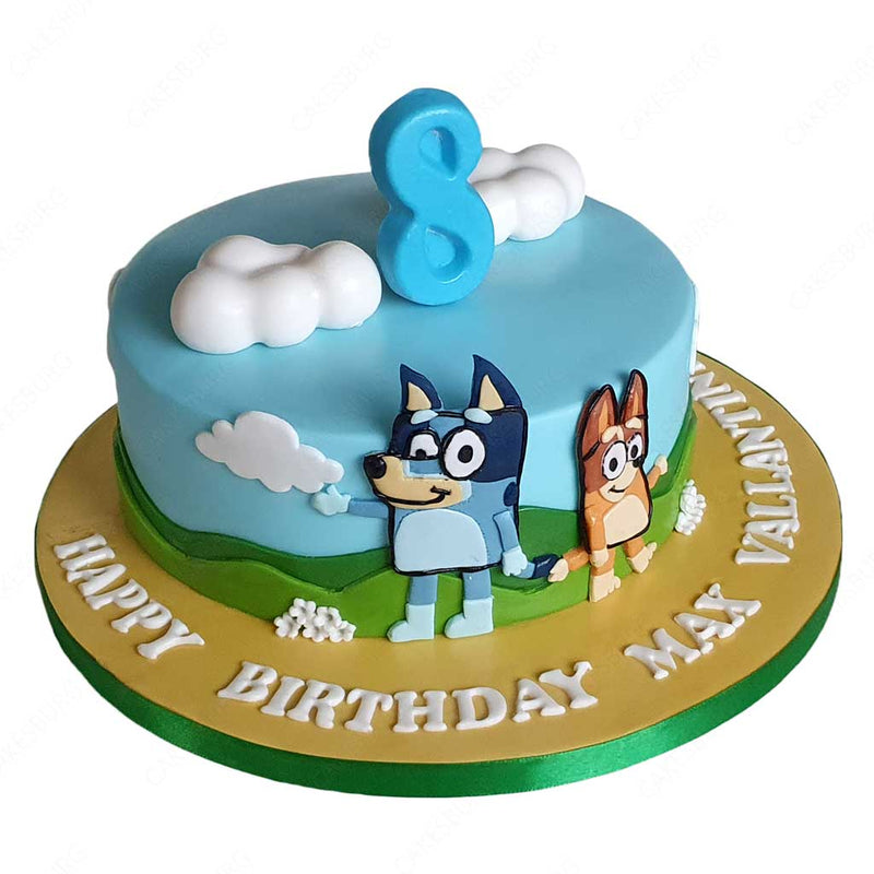 Bluey And Dingo Cake