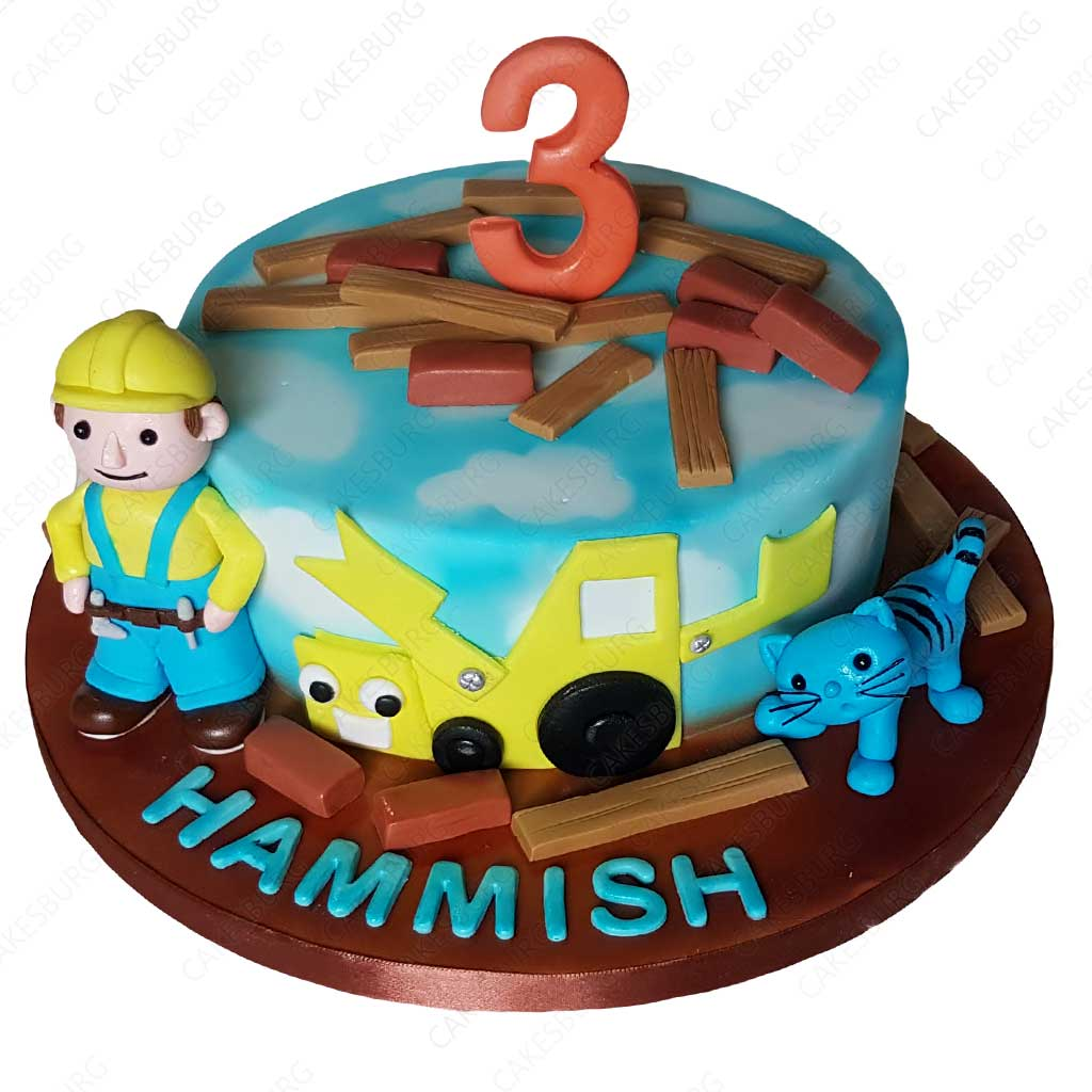 Superb Bob The Builder Cake Cakesburg Online Premium Cake Shop Funny Birthday Cards Online Elaedamsfinfo