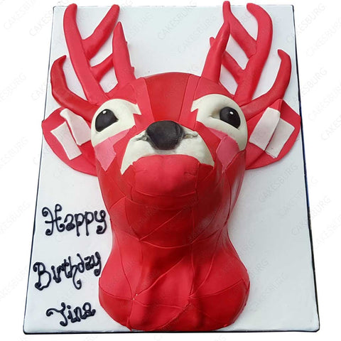 Stag Head Cake