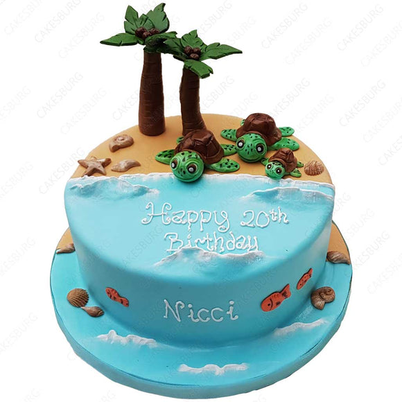 Caretta Caretta Beach Cake