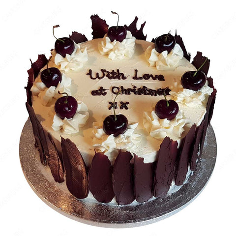 Chocolate Cherry Message Cake