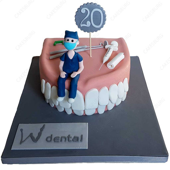 Dentist Teeth Cake