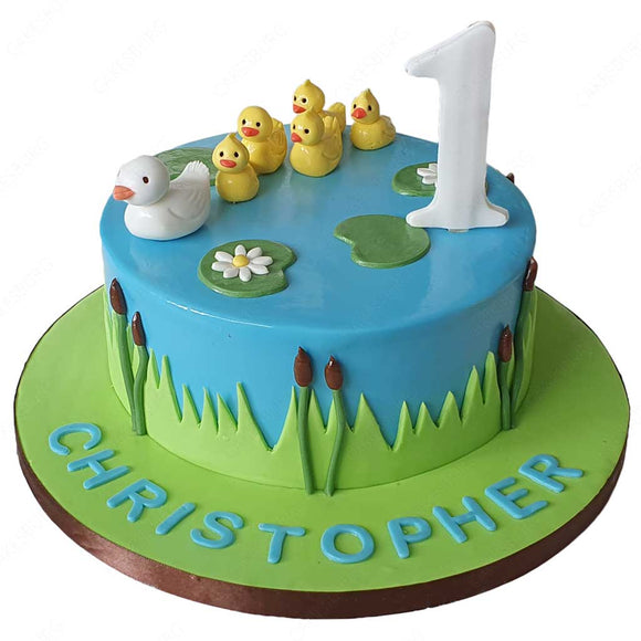 Duck & Ducklings Cake #2