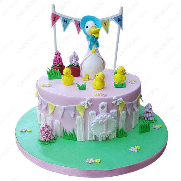 Duck & Chicks Cake