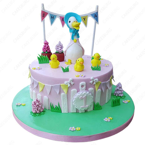 Jemima Puddle Duck & ducklings Cake #1