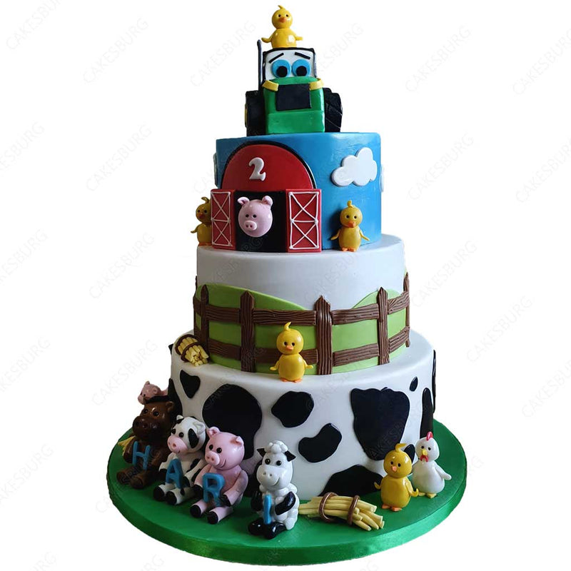 Jumbo Farm Animals Cake