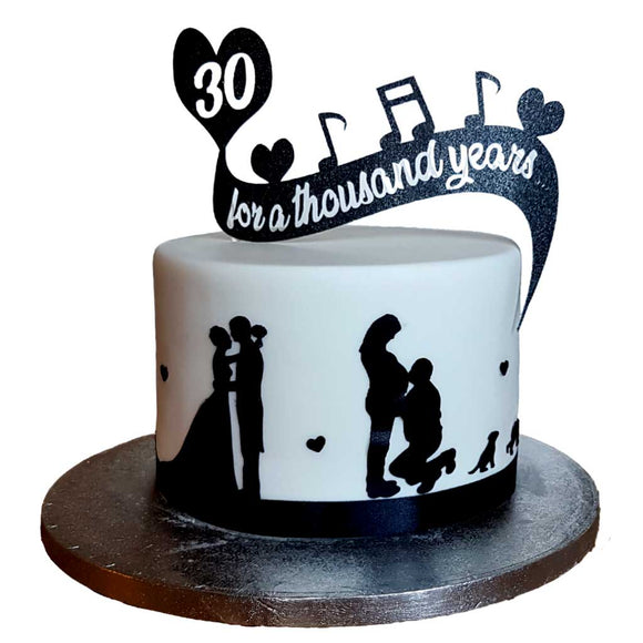 For a Thousand Years Message Cake #1