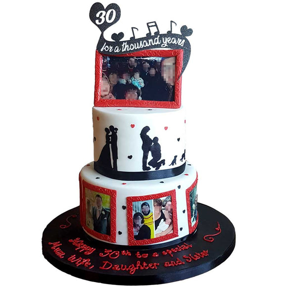 For a Thousand Years Message Cake #3