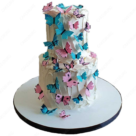 Elegant Baby Gender Reveal Cake