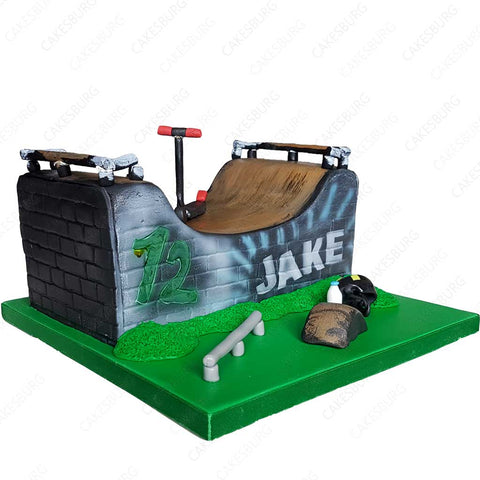 Half Pipe Skate / Scooter Ramp Cake